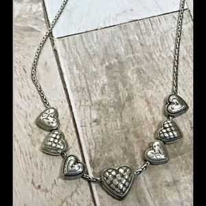Retired Brighton 7 Hearts Charms Necklace